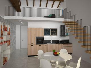 Loft Zarini B+P architetti Sala da pranzo moderna