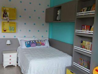 Rita Corrassa - design de interiores Çocuk OdasıYatak & Beşikler Orta Yoğunlukta Lifli Levha Turkuaz