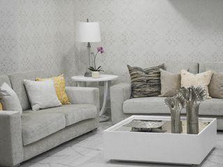 Monica Saravia Moderne woonkamers Grijs