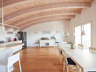 Appartamento PC Studio Ecoarch Sala da pranzo moderna