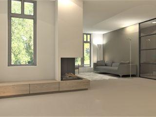 Studio DEEVIS Modern living room Wood