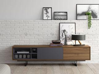 Decordesign Interiores ВітальняПідставки для телевізорів та шафи Сірий