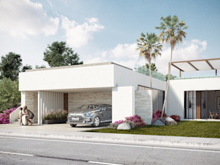 DELTA Terrace house Concrete White