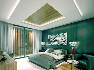 COUTIÑO & PONCE ARQUITECTOS Küçük Yatak Odası Beton Yeşil