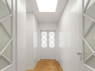Apartamento Rodrigo da Fonseca III Padimat Design+Technic Corredores, halls e escadas minimalistas Branco
