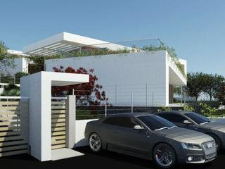 Ville gemelle Ing. Massimiliano Lusetti Case in stile minimalista