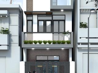 Xây Dựng Nhà Phố 1 Trệt 1 Lầu Sân Thượng 860 Triệu Tại Nhà Bè Công ty TNHH TK XD Song Phát Nhà gia đình Than củi