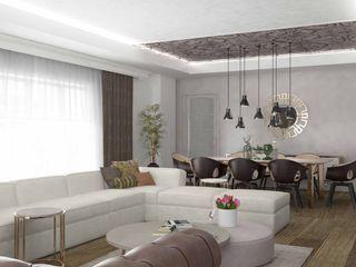 Pebbledesign / Çakıltașları Mimarlık Tasarım Moderne Wohnzimmer