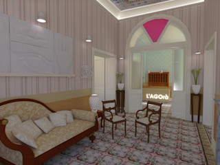 L'Agorà – L'Albergo Arriverà – IMMOBILE 66 Ing. Massimiliano Lusetti Ingresso, Corridoio & Scale in stile classico