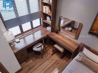 THIẾT KẾ NỘI THẤT TRỌN GÓI CĂN HỘ CHUNG CƯ COSMO CITY 50M2 CỦA ANH SINH Ở QUẬN 7 Công ty Cổ Phần Nội Thất Mạnh Hệ Phòng ngủ phong cách hiện đại Wood effect