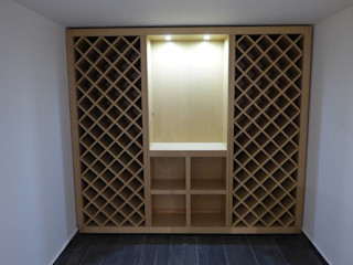 Pedigree Group Modern Home Wine Cellar Solid Wood White