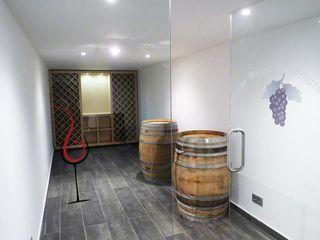 Pedigree Group Modern Home Wine Cellar Solid Wood Grey