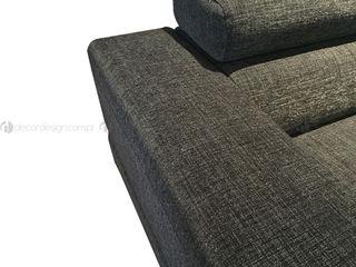 Decordesign Interiores ВітальняДивани та крісла Текстильна Сірий