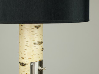 Floor lamp made of birch branches Meble Autorskie Jurkowski Living roomLighting