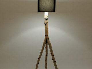 Floor lamp made of birch branches Meble Autorskie Jurkowski Dining roomLighting Wood Black
