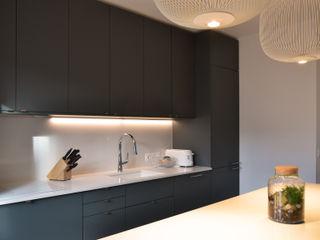 Appartement familial - Levallois / 130 m² A comme Archi Cuisine moderne Vert