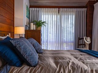Quarto Casa Rústica - Por Patrícia Nobre Patrícia Nobre - Arquitetura de Interiores Quartos tropicais