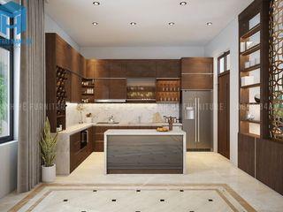 THIẾT KẾ NỘI THẤT TRỌN GÓI CĂN BIỆT THỰ MINI 3 PHÒNG NGỦ CỦA ANH THÁI Ở BÌNH DƯƠNG Công ty Cổ Phần Nội Thất Mạnh Hệ Phòng ăn phong cách hiện đại Wood effect