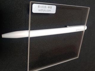 WITHJIS(위드지스) Escritórios modernos Alumínio/Zinco Branco