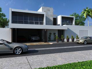 OLLIN ARQUITECTURA Casas familiares Concreto Cinza