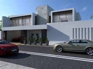 OLLIN ARQUITECTURA Casas geminadas Concreto Cinza