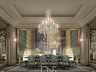 Dining Room Design in Parisian Style IONS DESIGN Modern dining room Copper/Bronze/Brass
