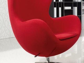 Decordesign Interiores ВітальняТабурети та стільці Червоний