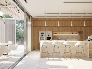 TABARQ Built-in kitchens Wood effect