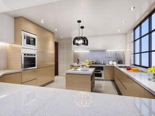 Luxury Solutions Вбудовані кухні Фанера Бежевий