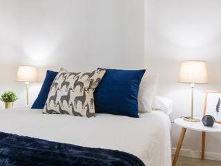 Home staging para venta de piso en Madrid CASA IMAGEN Dormitorios de estilo escandinavo