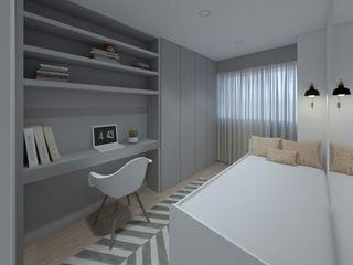 MIA arquitetos Small bedroom MDF Сірий