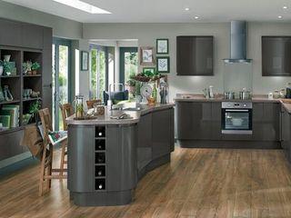 Kitchen STAAC Küchenzeile Holz Grau