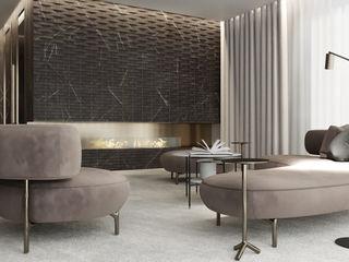 Suiten7 Salas de estilo minimalista Metal Beige