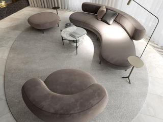 Suiten7 Salas de estilo minimalista Mármol Beige