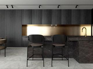 Suiten7 Cocinas de estilo minimalista Ámbar/Dorado