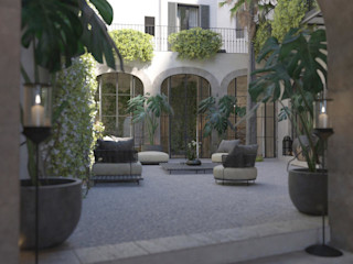 Carre de Sol, Palma 4D Studio Architects and Interior Designers Eclectic style balcony, veranda & terrace