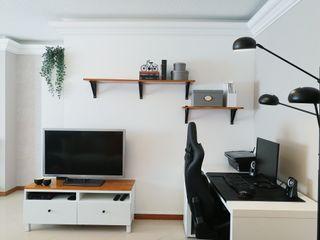 YS PROJECT DESIGN Minimalistische Wohnzimmer Holz Holznachbildung