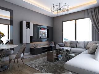 MİNERVA MİMARLIK Living roomTV stands & cabinets