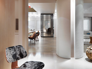 何侯設計 Ho + Hou Studio Architects Pasillos, vestíbulos y escaleras de estilo moderno