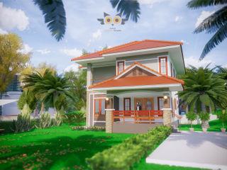 บ้านสองชั้น 7 แบบบ้านออกแบบบ้านเชียงใหม่ บ้านสำหรับครอบครัว คอนกรีต Orange