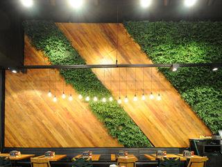 Vertical Garden - Jardim Vertical e Paisagismo Corporativo Tropical walls & floors