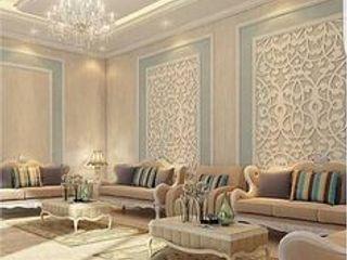 كاسل للإستشارات الهندسية وأعمال الديكور والتشطيبات العامة Living roomAccessories & decoration Cotton Brown