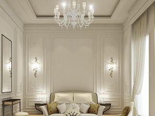 كاسل للإستشارات الهندسية وأعمال الديكور والتشطيبات العامة Modern living room Granite Yellow