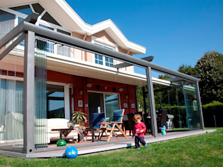 PERGOLA A.Ş. Balconies, verandas & terraces Accessories & decoration Nhôm / Kẽm Grey