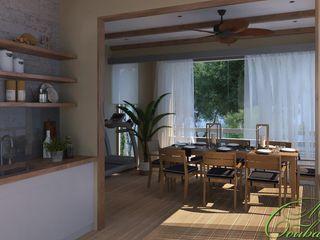 Компания архитекторов Латышевых 'Мечты сбываются' Varandas, marquises e terraços minimalistas