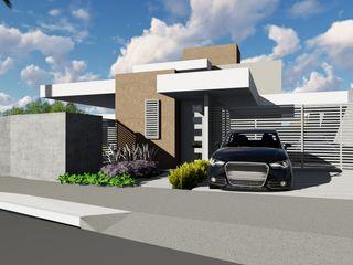Casa Térrea - Moderna - Ilha do Boi ARUS Associados Ltda. Casas familiares Ferro/Aço Multi colorido