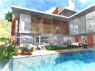 Casa Moderna - Ilha do Frade ARUS Associados Ltda. Casas familiares Ferro/Aço Multi colorido