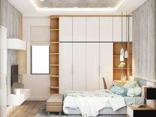 THIẾT KẾ NỘI THẤT NHÀ PHỐ 3 PHÒNG NGỦ_ANH HƯỚNG Ở QUẬN 10 Công ty Cổ Phần Nội Thất Mạnh Hệ Phòng ngủ phong cách hiện đại White
