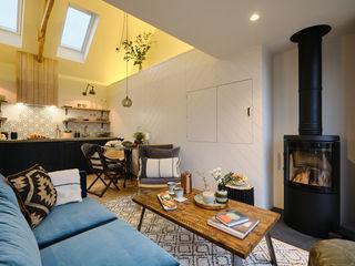 The Nook, Near Rock   Cornwall Perfect Stays Ruang Keluarga Gaya Skandinavia