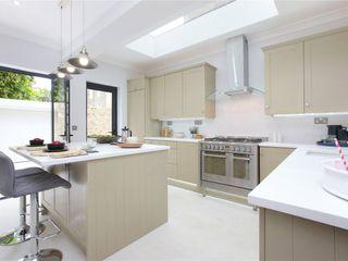 Design and Build London Renovation Kitchen units Solid Wood Beige